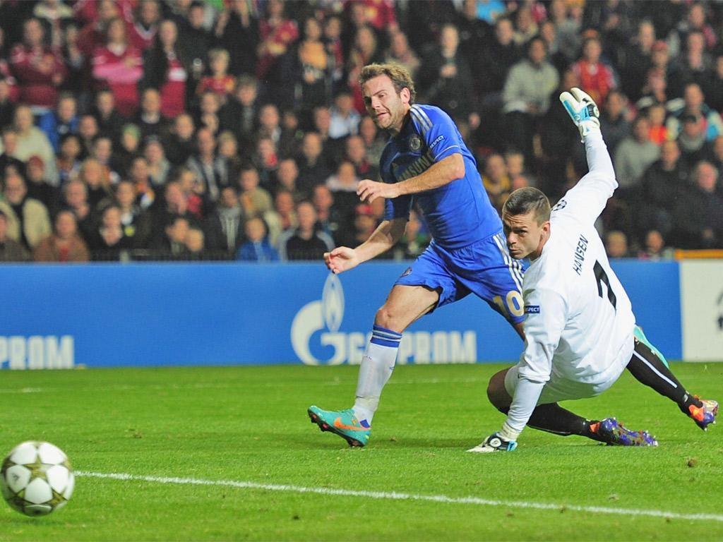 Juan Mata scored two of Chelsea's goals