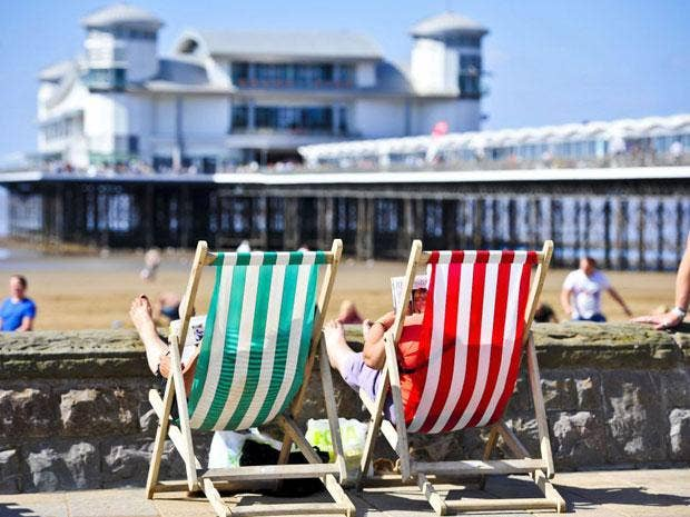 On the beach in Somerset: the county has some of the best holiday accommodation in the world, says TripAdvisor