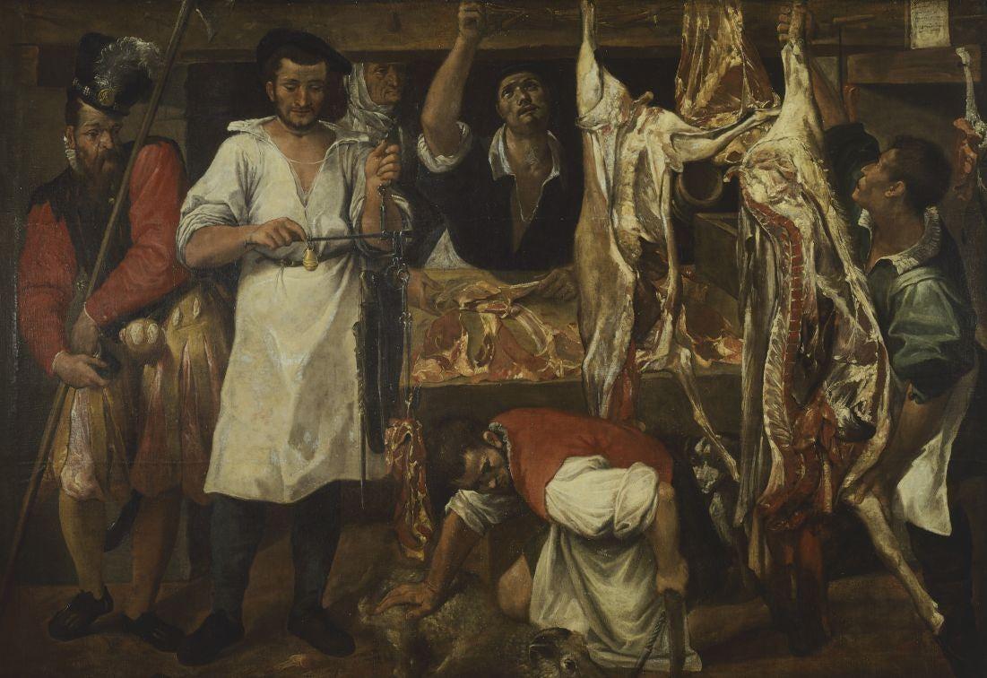 The Butcher's Shop by Annibale Carracci, (c1583) 185cm x 266 cm Christ Church Collection, Oxford