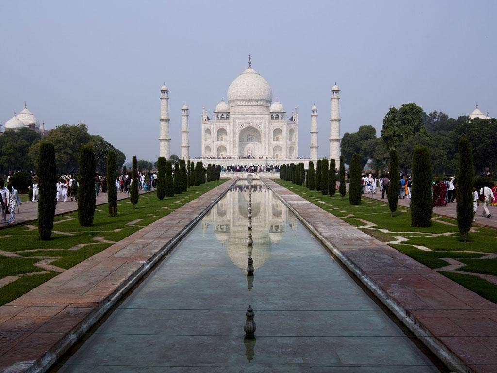 The Taj Mahal in Agra. The Dubai version will be four times the size of the original