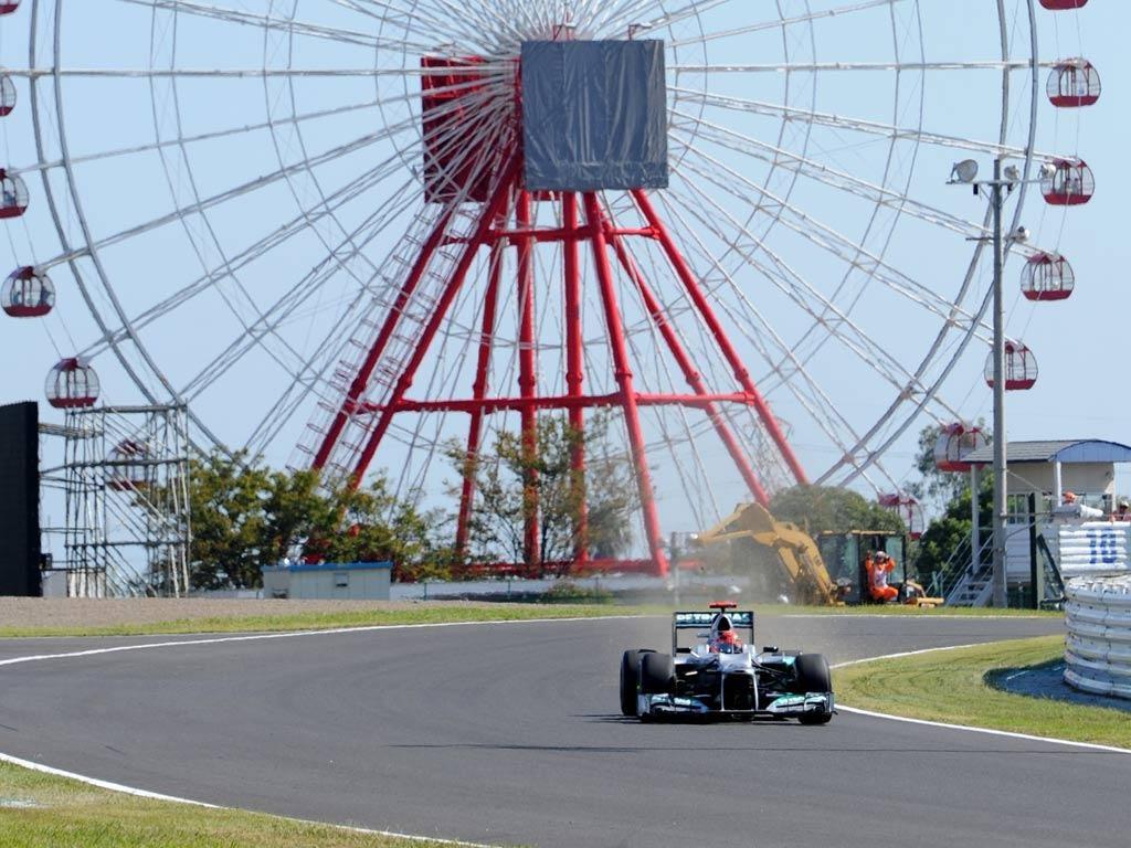 Michael Schumacher pictured in Japan