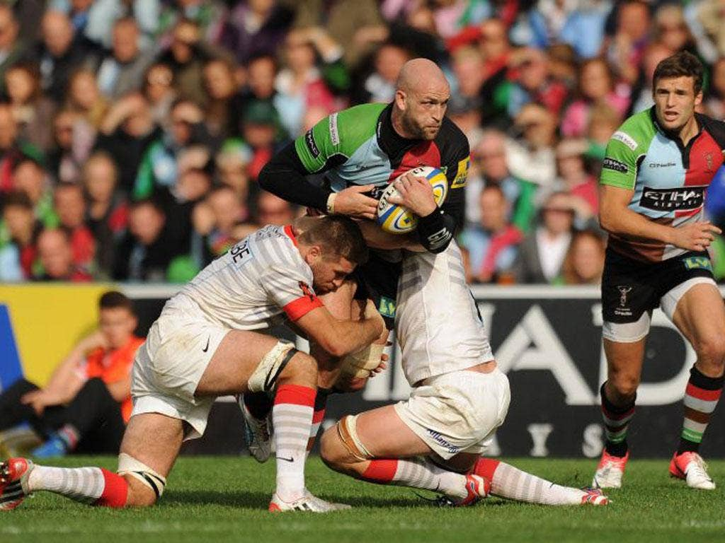 Harlequins suffered an 18-16 home defeat to Saracens last weekend