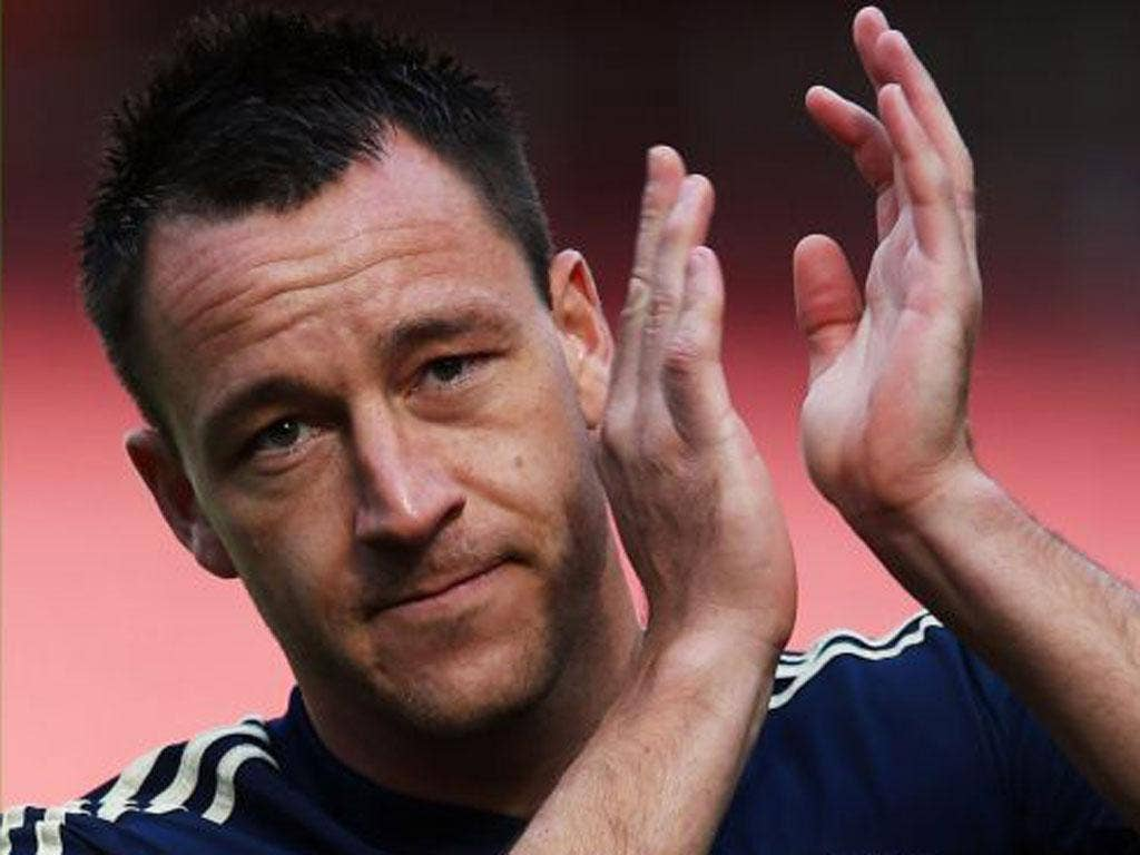 John Terry applauds the Chelsea fans