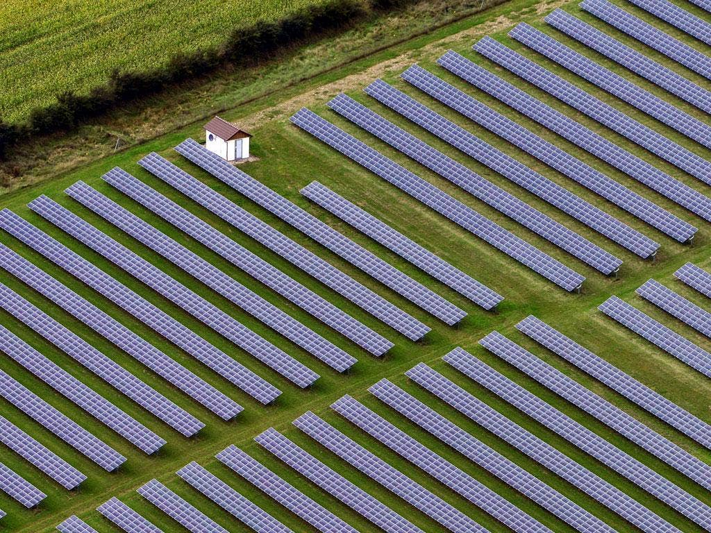 New harvests: Solar power at Husum, Germany: Germans are investing heavily in renewables