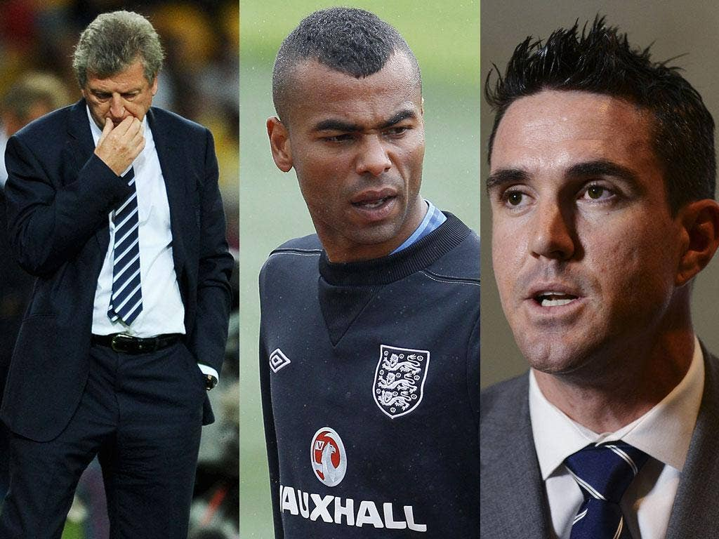 Who did you believe?: Roy Hodgson, Ashley Cole and Kevin Pietersen all said sorry last week, but not all with conviction