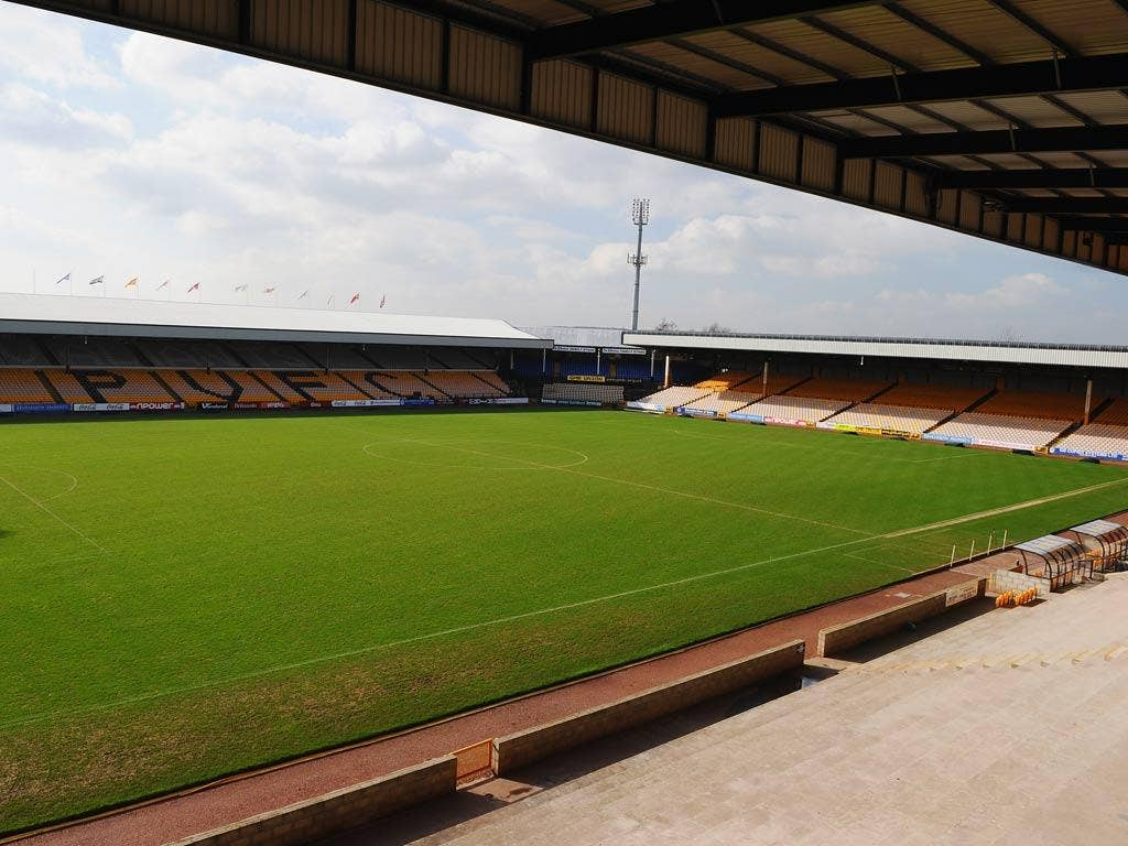 A general view of Port Vale's Vale Park