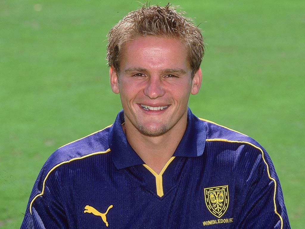 Neal Ardley pictured during the Wimbledon FC 2001/02 season