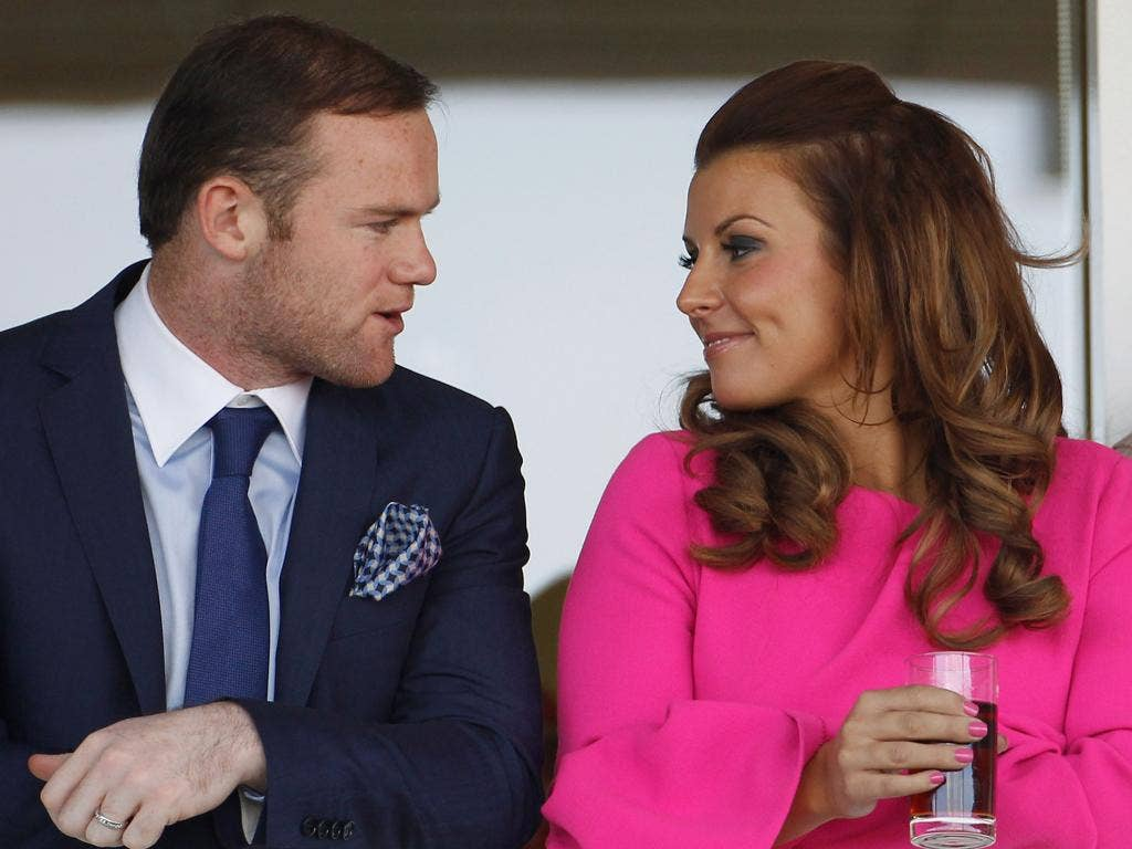 Wayne and Coleen at Aintree in April