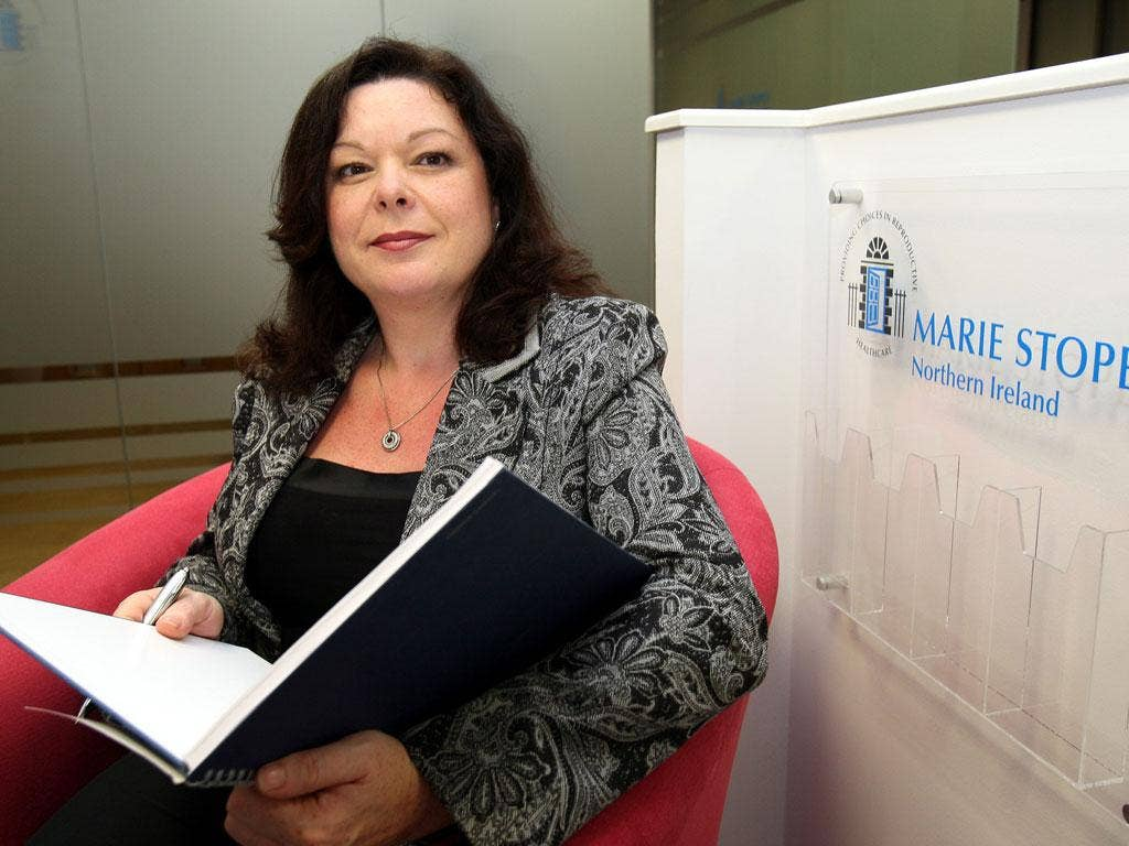 Dawn Purvis, programme director of Marie Stopes Northern Ireland in the new Belfast clinic