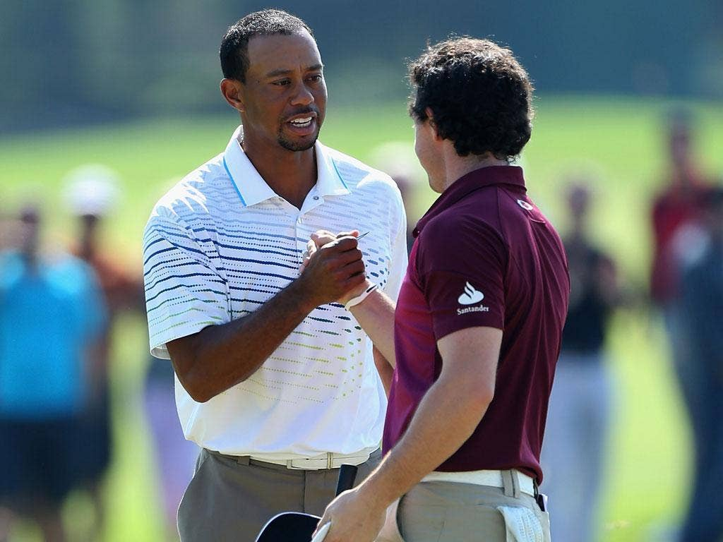 Tiger Woods was ousted by Justin Rose