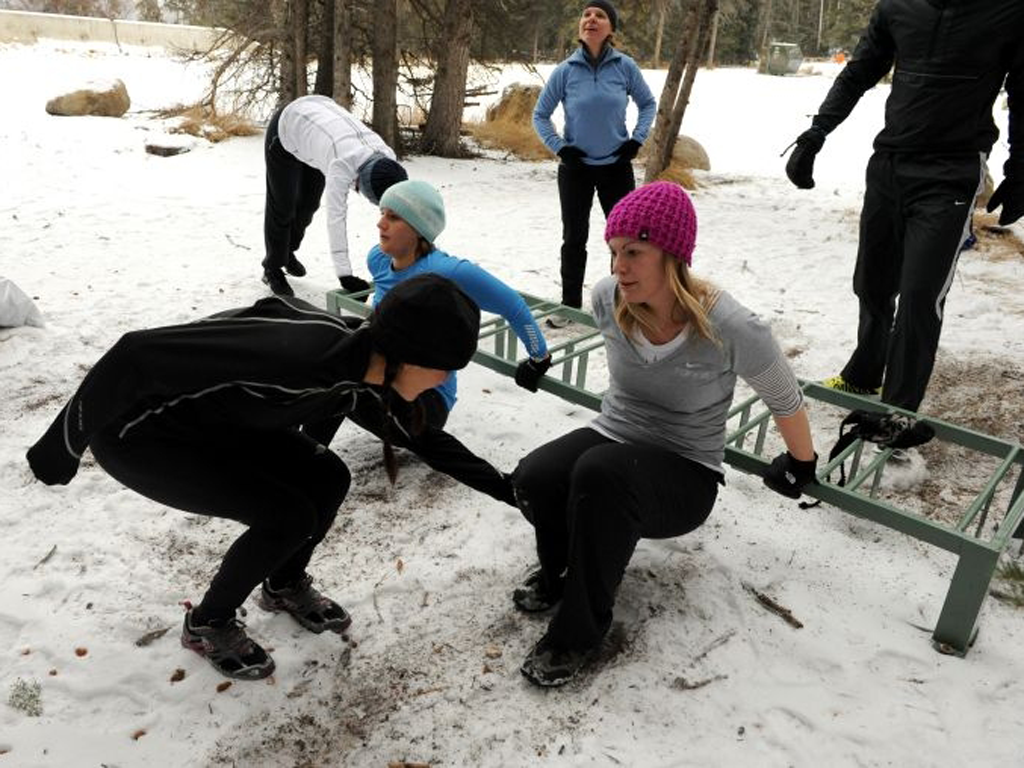 Lisa getting ski-fit