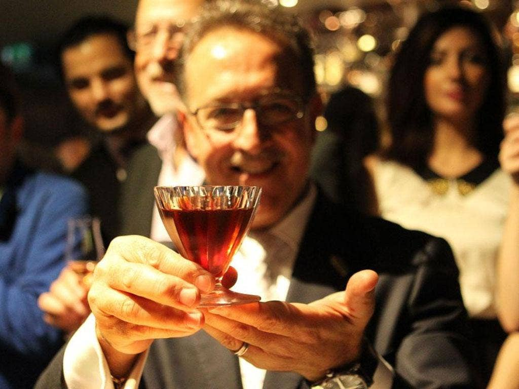 Salvatore Calabrese who has claimed to have set a new record for the most expensive cocktail in the world at Salvatore's at Playboy Club London