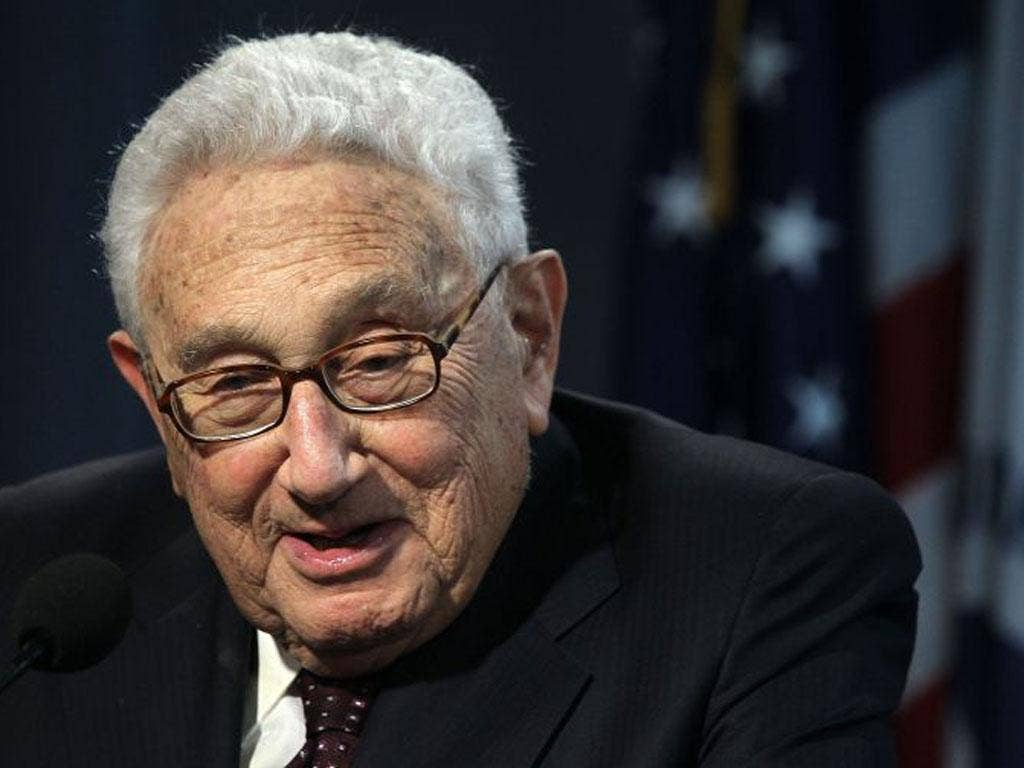 Henry Kissinger, 1973: The US Secretary of State was honoured for the Paris Peace Accords designed to bring a ceasefire in the Vietnam War. But there was a secret bombing campaign in Laos at the time.