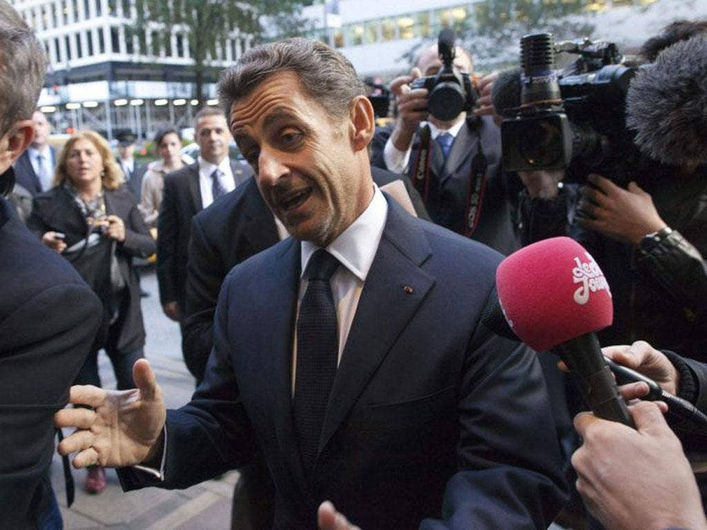 Nicolas Sarkozy, the former French President, appeared to quash speculation that he might return to politics
