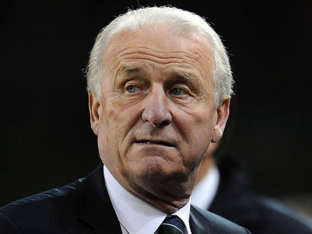 Trapattoni insisted he would not walk away from the Republic of Ireland job