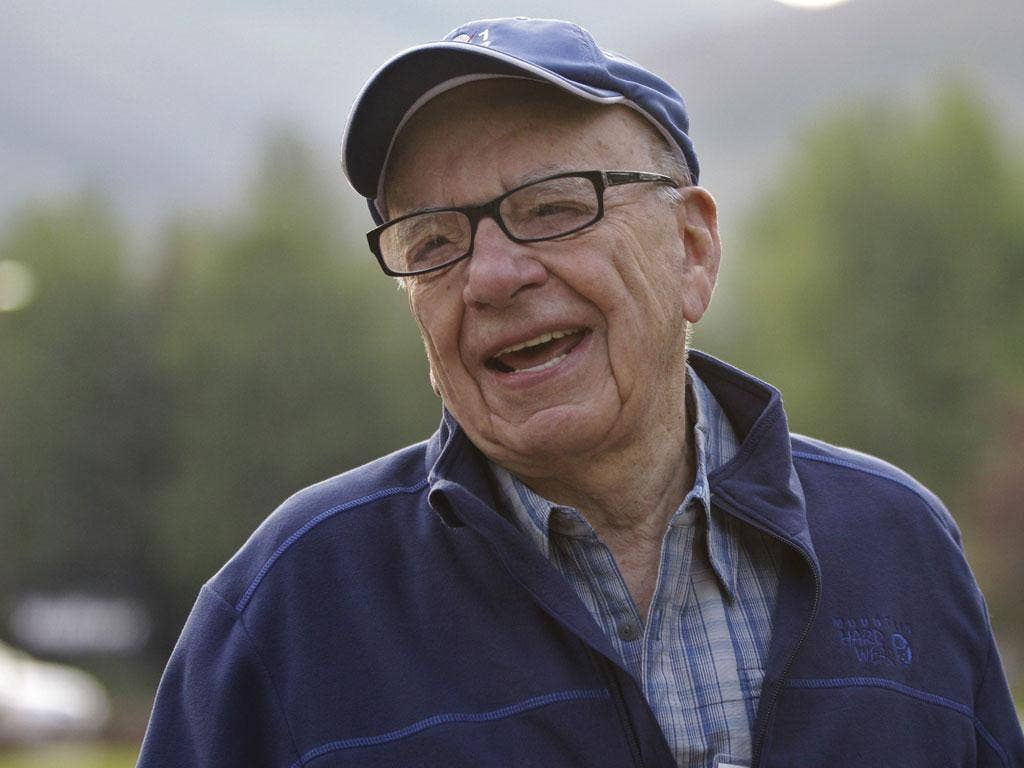 Fighting fit: Rupert Murdoch seems untroubled by shareholders' motion to unseat him