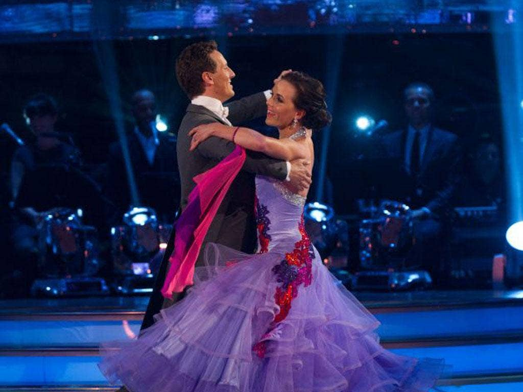 Brendan Cole and Victoria Pendleton on 'Strictly Come Dancing' on Saturday