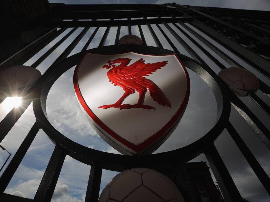 A view of the gates outside Anfield