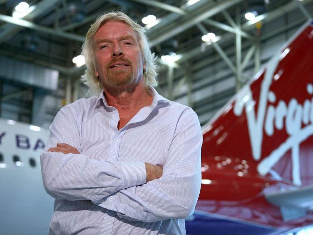 Richard Branson, now 62