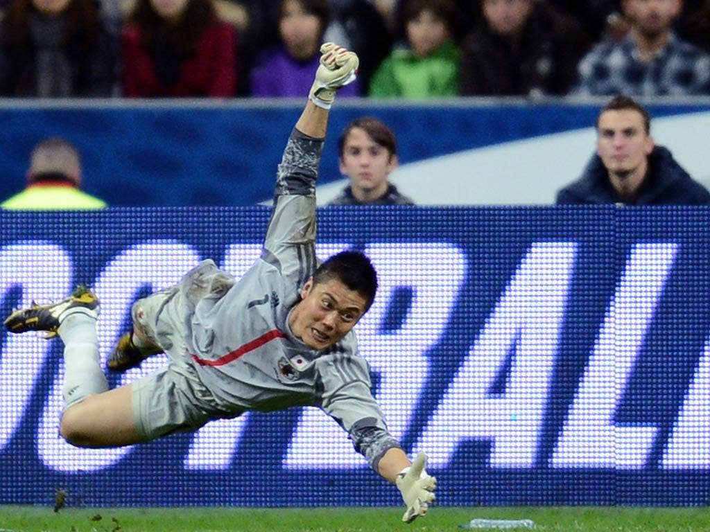 Eiji Kawashima was in inspired form against France