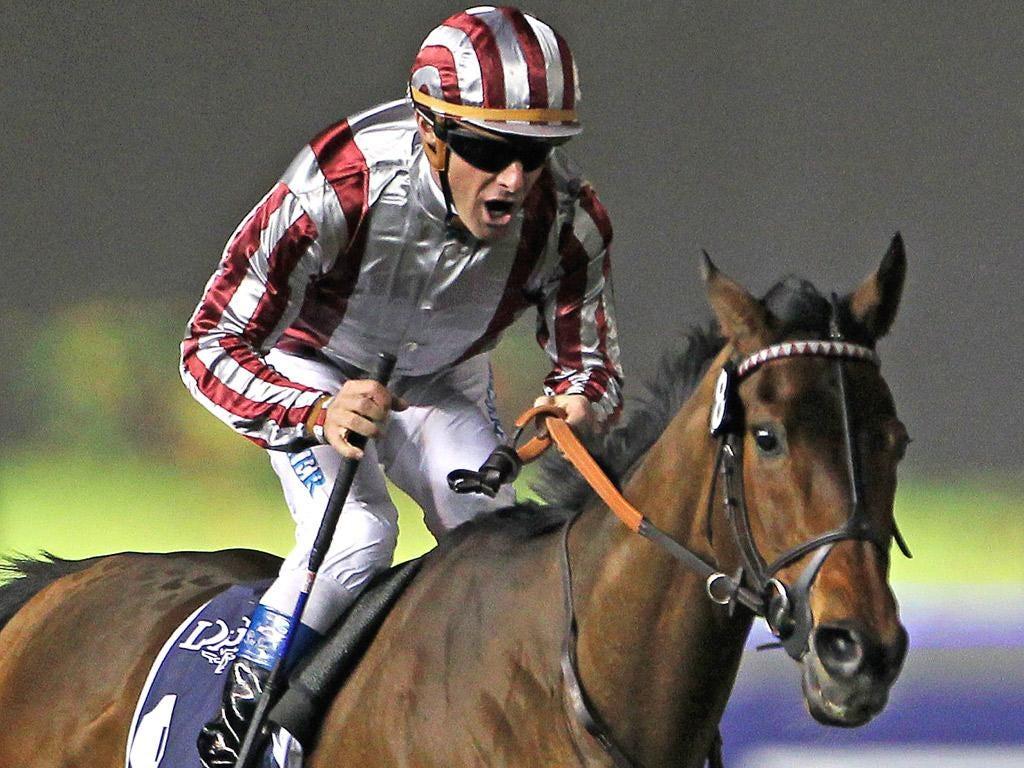 Olivier Peslier leads Cirrus des Aigles to win the Dubai Sheema Classic in March