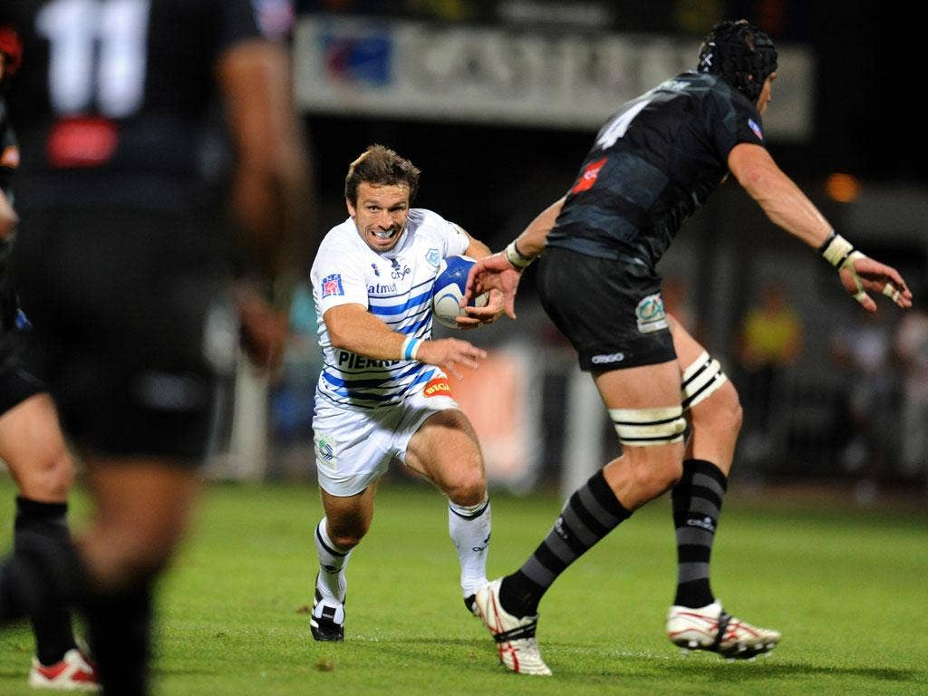 The Castres full-back Romain Teulet poses a potent threat to Gloucester