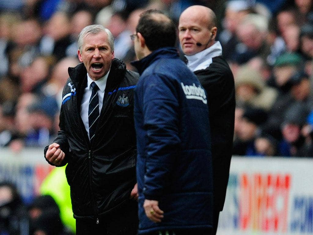Alan Pardew and Martin O'Neill confront each other last season