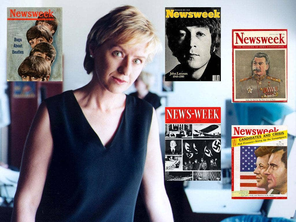 The editor Tina Brown and Newsweek covers down the decades
