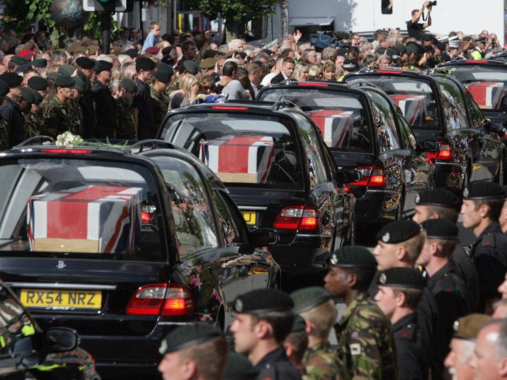 Soldiers killed in Iraq being repatriated in Wooton Bassett
