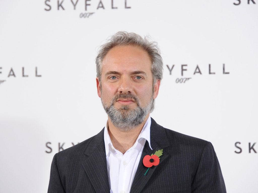 Sam Mendes at the premiere of Skyfall