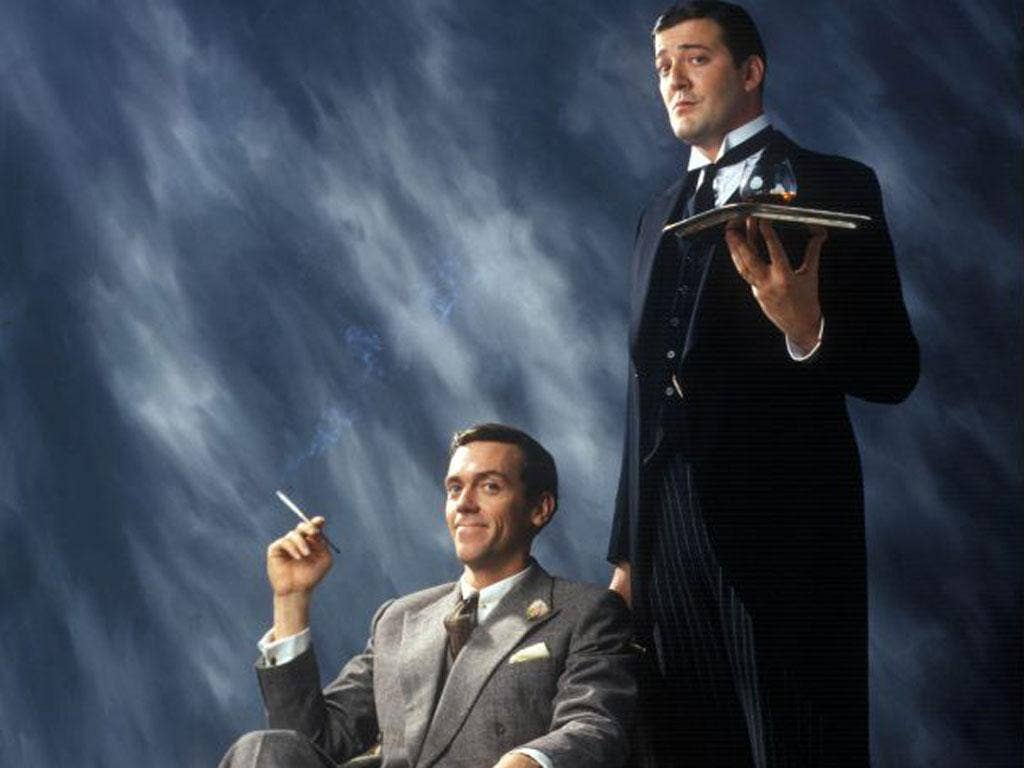 Stephen Fry as Jeeves in the TV programme 'Jeeves and Wooster'