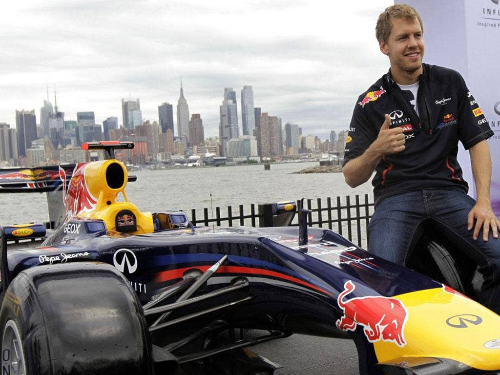 Sebastian Vettel backs the race in New Jersey earlier this year