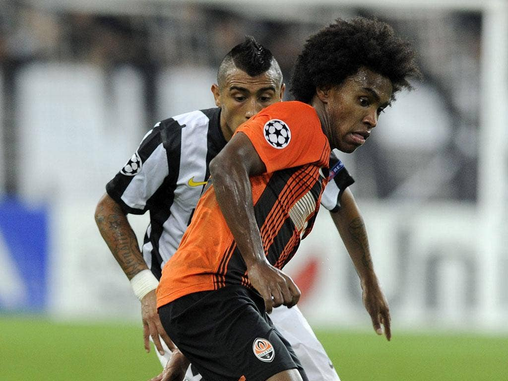 Shakhtar's highly regarded attacking midfielder Willian