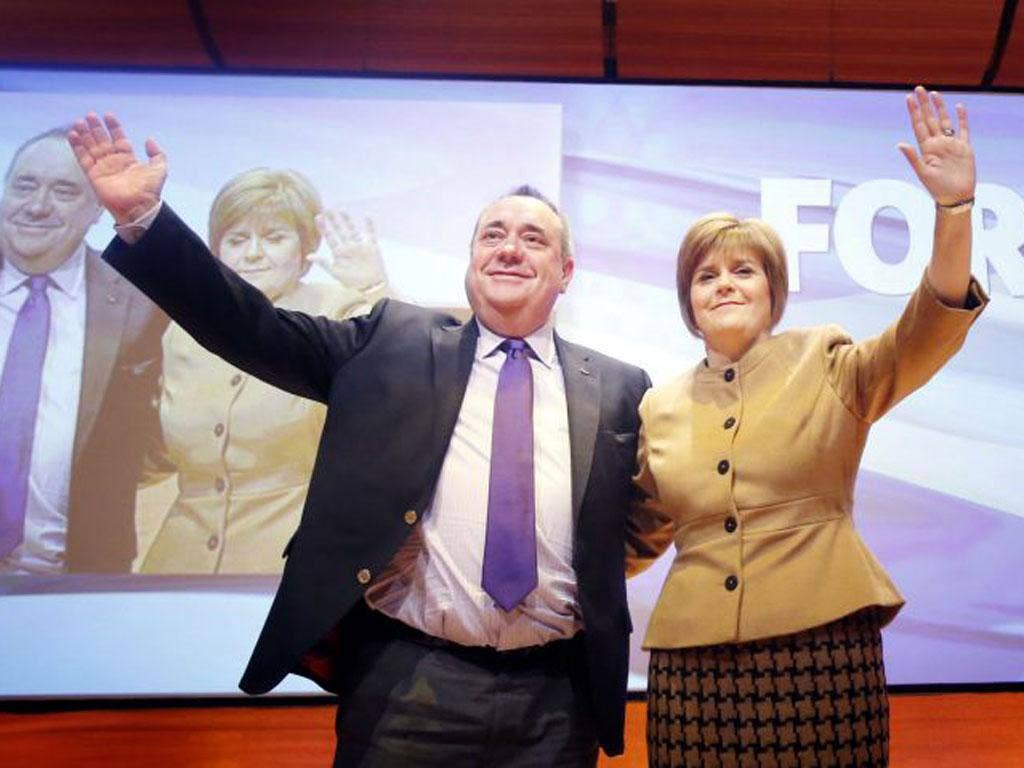 Deputy First Minister Nicola Sturgeon with First Minister Alex Salmond