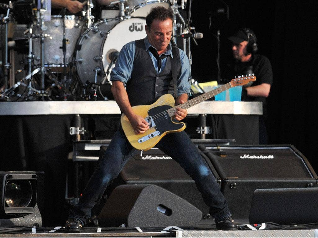 Bruce Springsteen performs during Hard Rock Calling at Hyde Park earlier this year