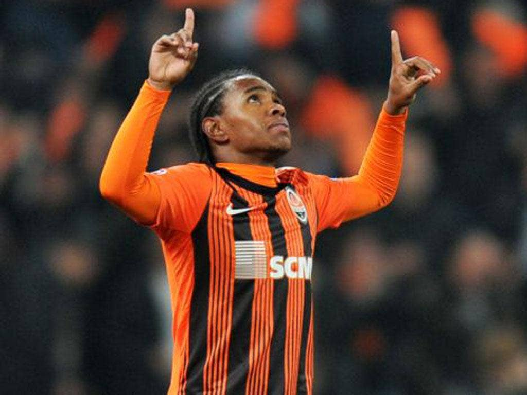 Shakhtar Donetsk's Brazilian forward Willian was a target for Spurs
