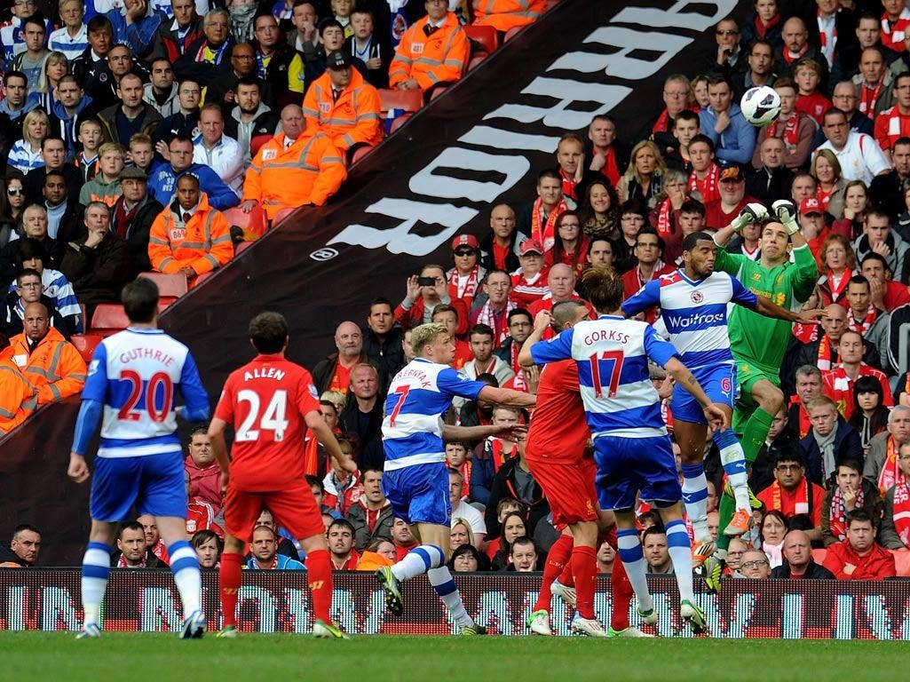 Brad Jones in action for Liverpool against Reading