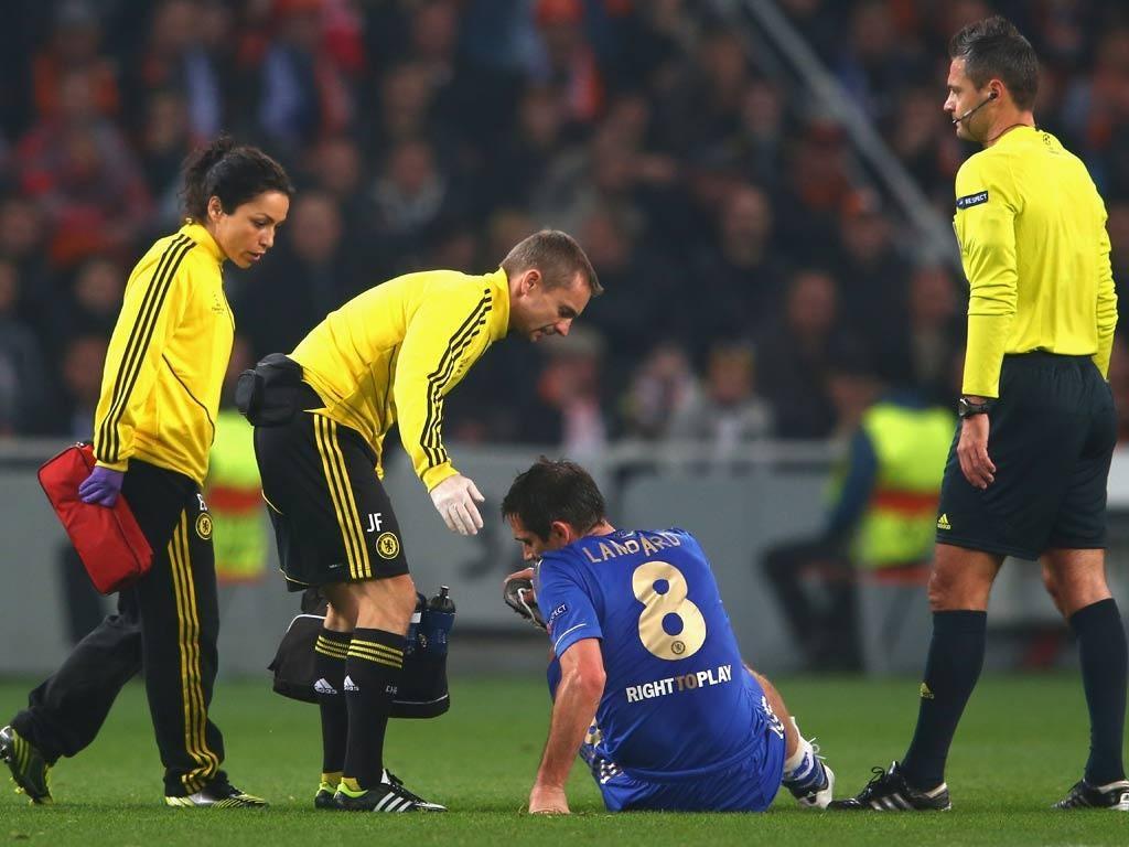 Frank Lampard picks up an injury against Shakhtar Donetsk