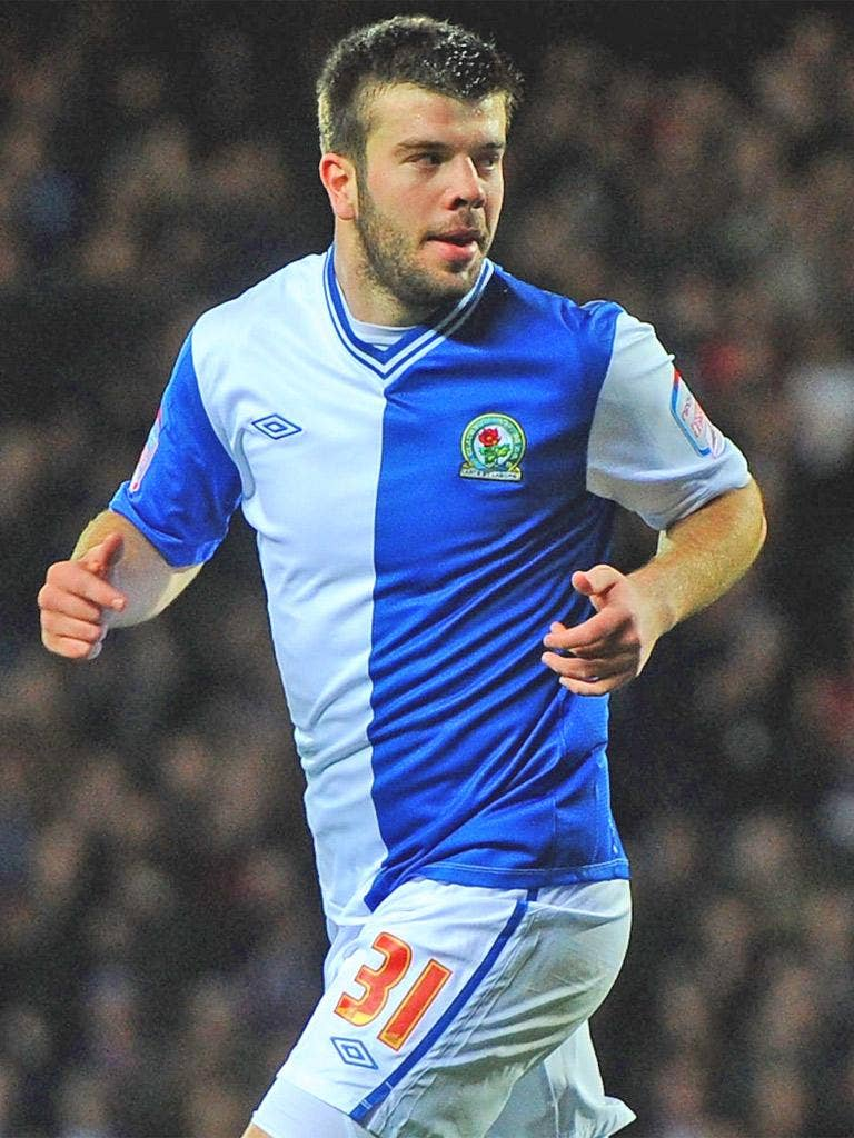 Grant Hanley gave Blackburn an early lead with a close-range finish