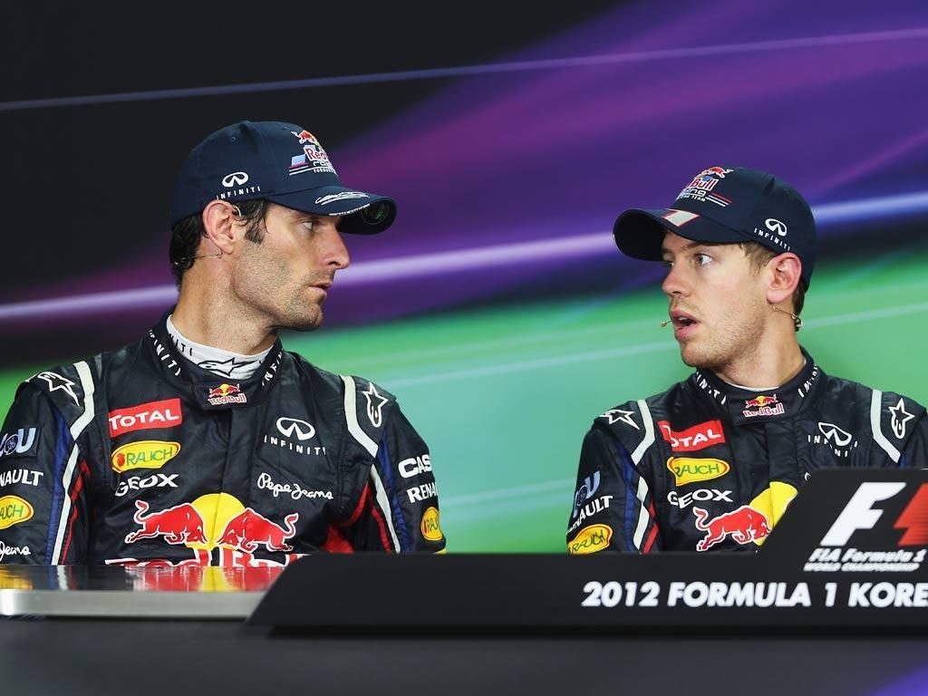 Mark Webber and Serbastian Vettel