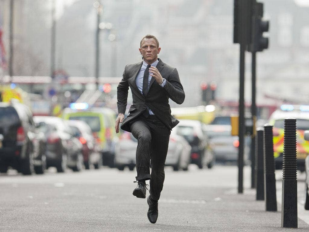 The man with the golden run: Daniel Craig as James Bond in 'Skyfall'