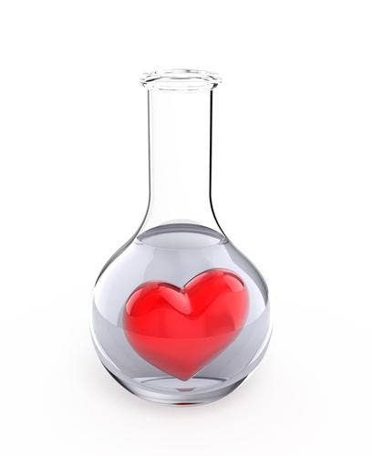 And whatever you do, don't leave your heart in a beaker