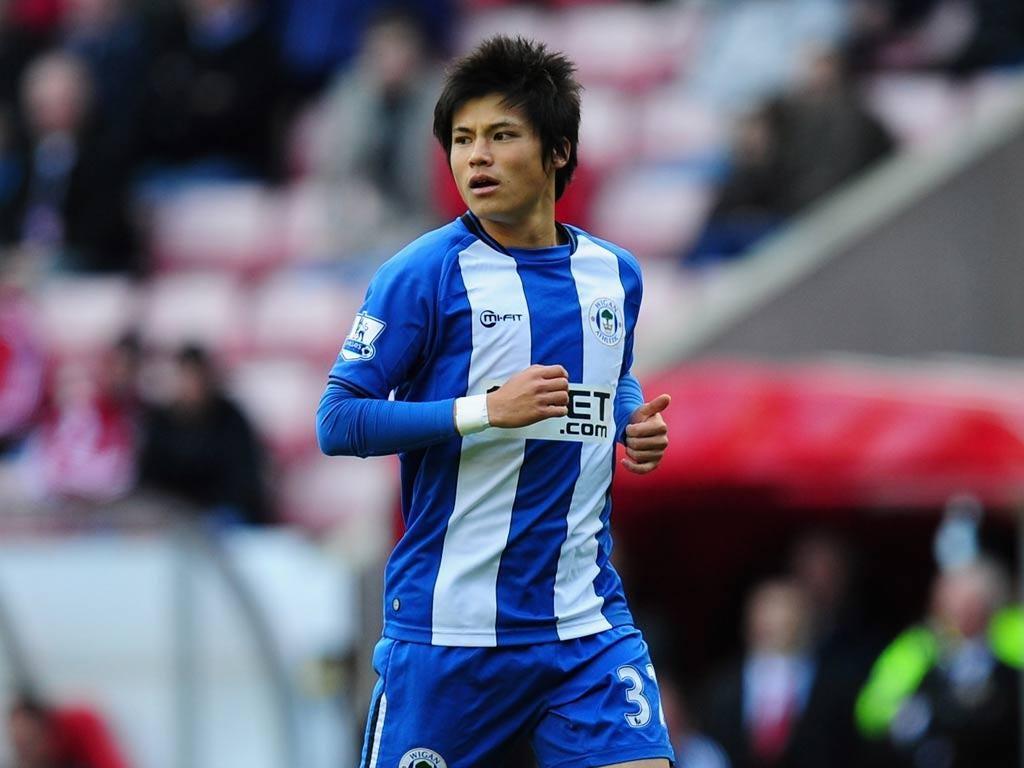 Wigan midfielder Ryo Miyaichi