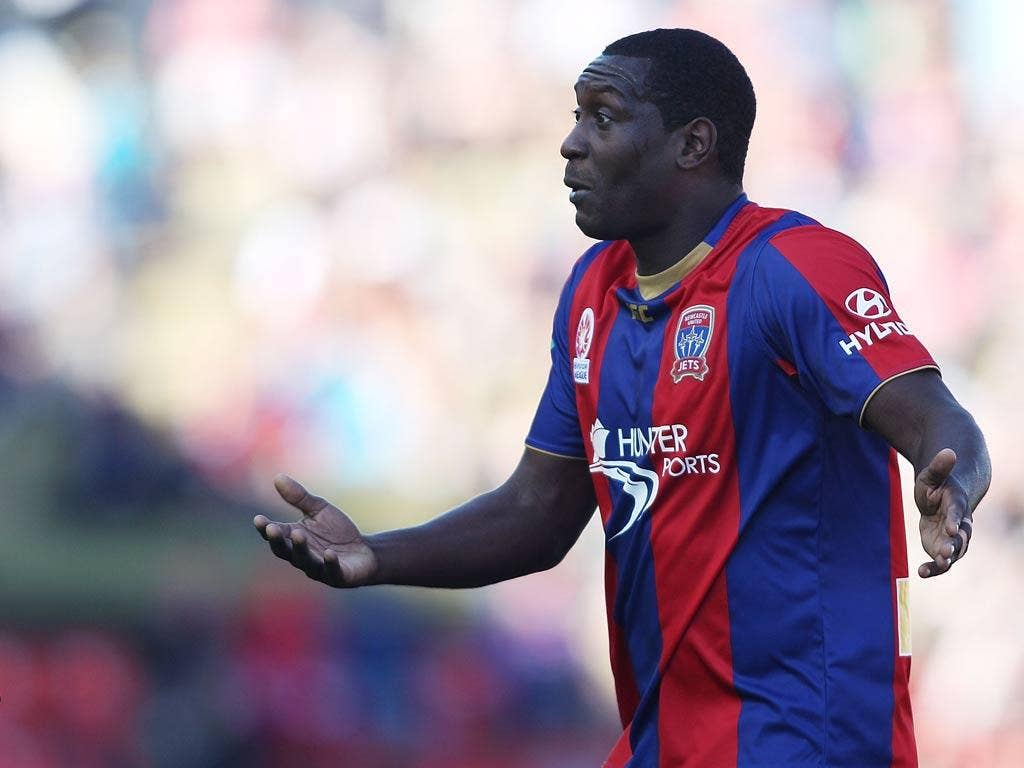 Emile Heskey plays for Newcastle Jets