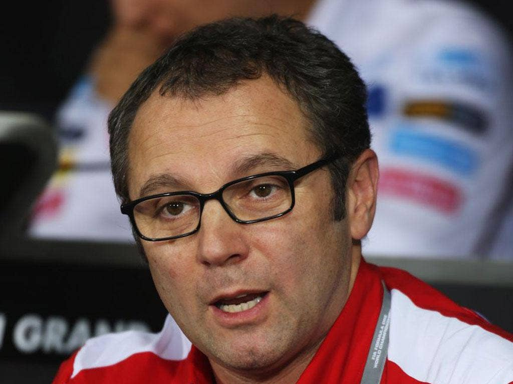 Stefano Domenicali denied any political intent in Ferrari gesture