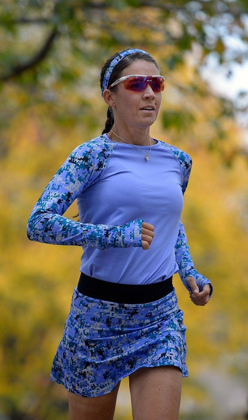 RUNNER: BethAnn Telford, who continues to compete in marathons despite suffering from brain cancer, will run in this Sunday's Marine Corps marathon in Washington.