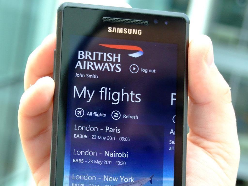 British Airways app