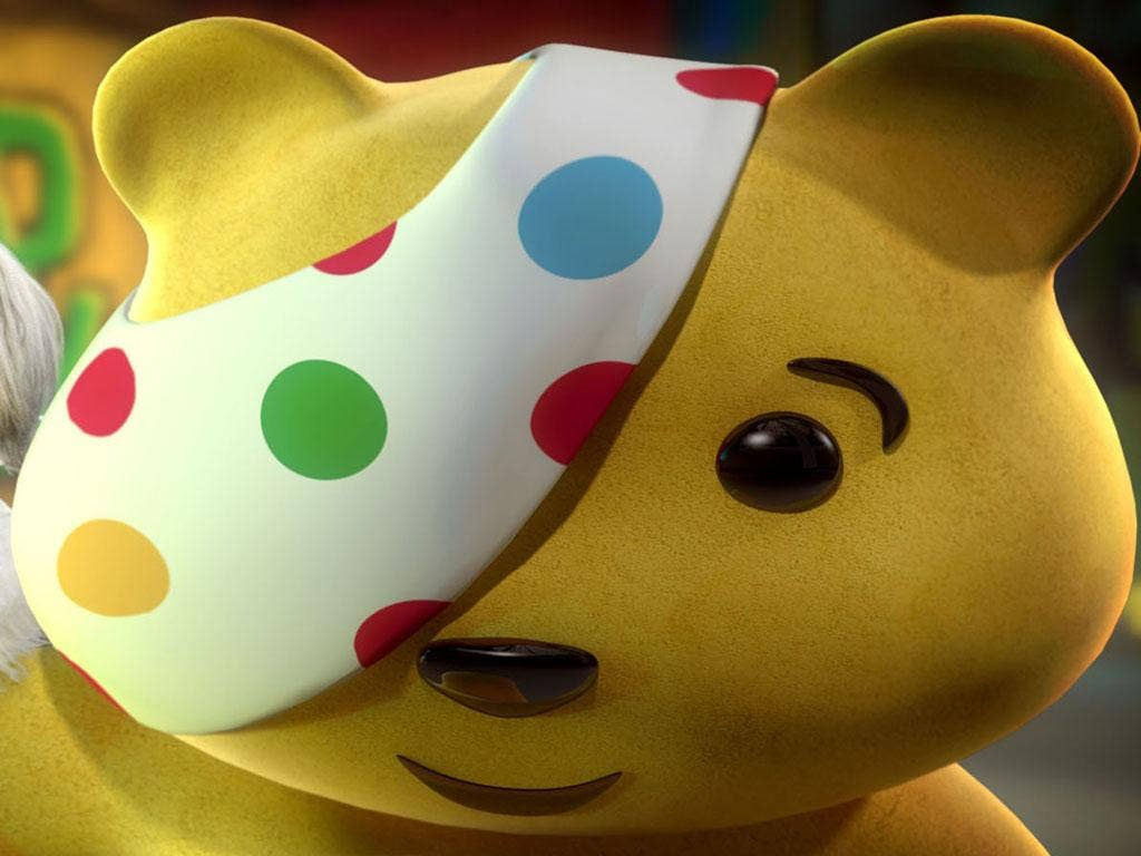 The charity's mascot, Pudsey
