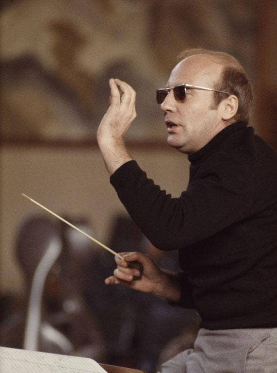 Henze conducts the English Chamber Orchestra at Morley College, London in 1969