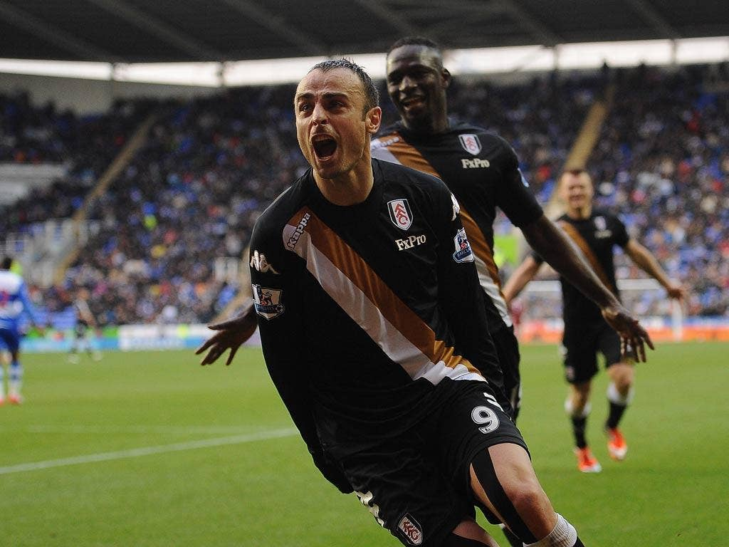Dimitar Berbatov looked to have given Fulham the win against Reading